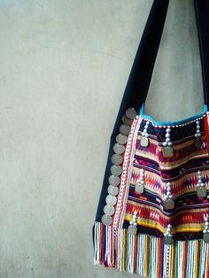 789210e5a0 Akha Tribal Bag - Authentic - Rare Vintage Shoulder Sling Bag - Boho -  Hippie - Bag