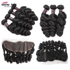 Useful Ali Sky Indian Non-remy Hair Natural Wave 4bundles With Lace Frontal13*4 Plucked Natural Hairline Baby Hair 100% Human Hair Bringing More Convenience To The People In Their Daily Life Human Hair Weaves