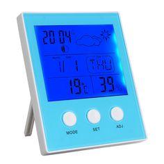 [US$12.22] CH-904 Digital Thermometer Hygrometer Temperature Humidity Tester LED Backlight Time Date Calendar Alarm Clock Display Indoor  #alarm #backlight #calendar #ch904 #clock #date #digital #display #humidity #hygrometer #indoor #temperature #tester #thermometer #time
