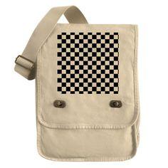 black checkered board Field Bag