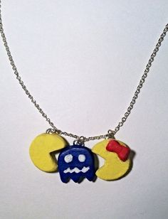 Pacman & Ghost Necklace by TheChicGeekOutlet on Etsy Pac Man, The Chic, Geek Stuff, Etsy Shop, Pendant Necklace, Trending Outfits, Unique Jewelry, Handmade Gifts, Vintage
