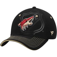 Men's Black Arizona Coyotes Shield Flex Hat