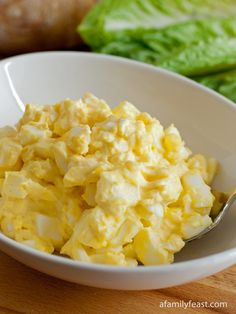 Simple Egg Salad- 6 whole eggs in shell, brought to room temperature 4 quarts of water 1 tablespoon white vinegar 4 tablespoons good quality mayonnaise (homemade mayonnaise, or if store-bought, we recommend Hellmann's) Pinch of salt Pinch of white pepper