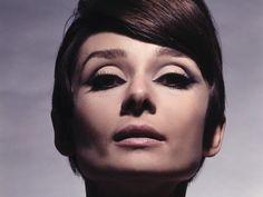 Audrey Hepburn in 1960s Sixties makeup