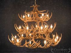This Whitetail Deer 42 Antler Chandelier is made from medium-density polyethylene which is light weight but durable, just like the real thing. Each Chandelier is hand stained to mimic authentic antlers. Deer Antler Chandelier, Antler Lights, Rustic Chandelier, Chandelier Shades, Rustic Lighting, Lantern Pendant, Chandelier Lighting, Chandeliers, Lighting Ideas