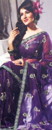 Designer Purple Sari Collection Bollywood Party « Dress Adds Everyday