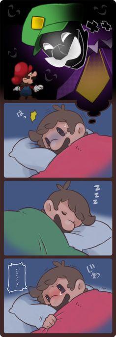 「すごく こわかったんだよ」/「ぺぱでん」のイラスト [pixiv] #Mario #Luigi