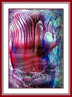 Sprookjesbos geschilderd met bijenwas door Beika Kruid Encaustic Art, Abstract, Artwork, Summary, Work Of Art, Auguste Rodin Artwork, Artworks, Illustrators