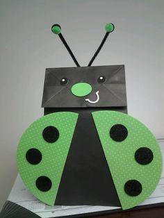 Ladybug Party Ideas from www.birthdayinabox.com - Ladybug Craft Puppet