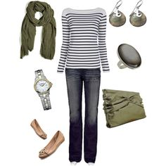 Olive and Stripes, by j.marice