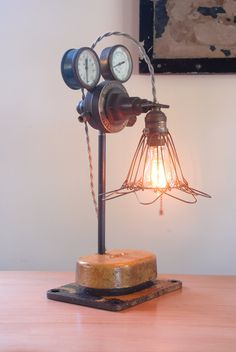 Steampunk Table Lamp. I Want To Learn How To Build These! So Very Cool