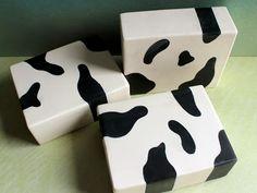 Cow print soap