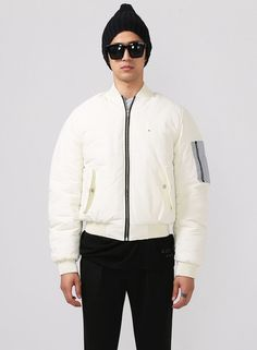 Shirring Sleeve MA-1 Flight Bomber Jacket - 6oz Cotton Padded $100.00