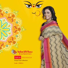 Check out our new collections for the Durga Puja - Kora Cotton saree. #DurgaPuja, #PujaShopping, #CottonSaree, #sarees