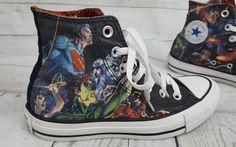 3d85757943002d Justice League Converse Wonder Woman Batman Superman Aquaman DC Comics high  tops