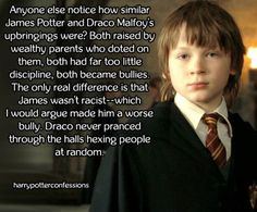 """Yeah, Draco was only ever """"evil"""" (even though he couldn't really be evil because of many obvious reasons) was because of his parents"""