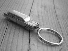 Silver Hearse Keychain by Ink & Roses 13