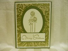 Made with Gina K cardstock and stamps