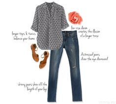 I LOVE this! I'm short waisted and am always looking for suggestions on how to wear jeans because I still haven't figured it out.