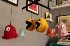 Handmade Pacman mobile in Nintendo themed nursery! #projectnursery
