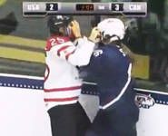 OLYMPICS US, Canada in women's hockey brawl