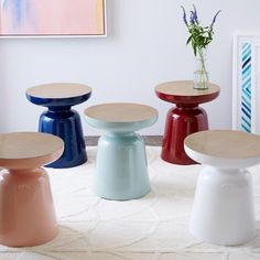 Martini Two Tone Side Table Sleek And Sculptural Gets An Update In A Variety Of Finishes Made From Cast Aluminum