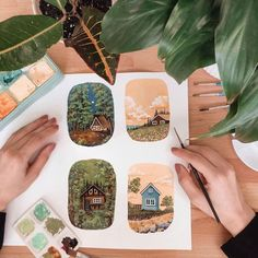 Artist Fills Her Sketchbook With Colorful Watercolor Studies of Nature Watercolor Illustration, Watercolor Paintings, Watercolor Sketchbook, Watercolour, Gouche Painting, Posca Marker, Posca Art, Art Diary, Arte Sketchbook