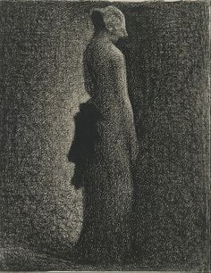 Georges Seurat - The Black Bow (1882) - Google Art Project (Musée d'Orsay)