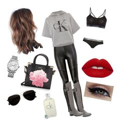 """""""Calvin Klein"""" by emmatraynor on Polyvore featuring Calvin Klein and Lime Crime"""