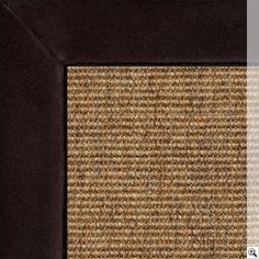Sisal Small Boucle Classics Rug. Border: Suede / Chocolate Rug Store, Natural Rug, Rugs Online, Sisal, Rugs On Carpet, Colours, Chocolate, Classic, Handmade