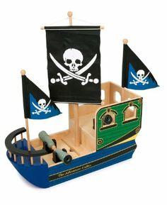 Small Foot Design 1163 - Piratenschiff Totenkopf: Amazon.de: Spielzeug