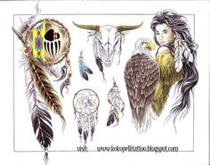 american indian tattoos | style tattoo trend: Native American - Kızılderili