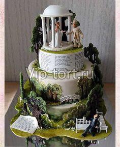 """Свадебный торт """"Я к Вам пишу..."""""""