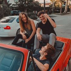 I always have the best laughs in the car w/ @alexlange & @imtessabrooks