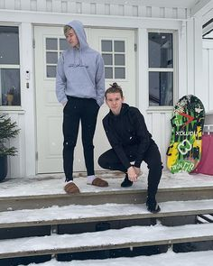 What weather do guys have? It's snowing so much over here❄️ Marcus Y Martinus, Great Friends, Normcore, Weather, Guys, Celebrities, Instagram, Mac, Martinis