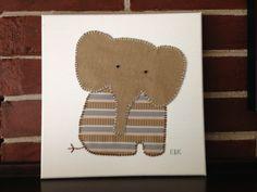 Sitting Elephant #1 by CottonwoodCove on Etsy