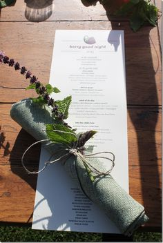 Sprig of mint & Thai basil tied with linen twine