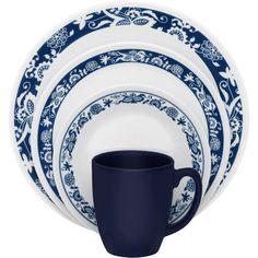 Corelle True Blue 16 Pc. Dinnerware Set   Dinnerware & Completer ...