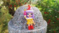 """Collana """"Memole dolce Memole""""/ folletto/ anime giapponese/ cartone animato/ fimo/ handmade/ collezione/ bambolina/ doll"""