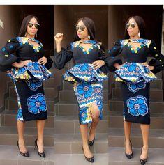 Unique Ankara Styles, Beautiful Ankara Styles, Ankara Gown Styles, Ankara Gowns, Latest Ankara Styles, Ankara Dress, Ankara Peplum Tops, Ankara Skirt And Blouse, African Attire