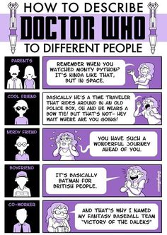 doctor who funny pics | How to describe Doctor Who to different people | JPEGY - What the ...