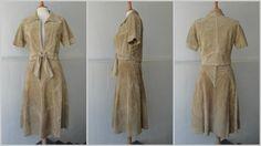 70s Vintage 2 Piece Suede Set // Antilopen // Skirt Size 36