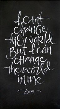 Love the lettering style too. Bono quote