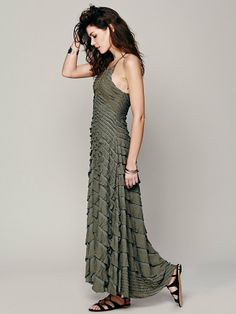 Free People FP X Cascading Waterfall Dress at Free People Clothing Boutique