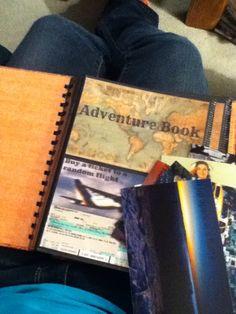 Adventure book: photo album full of bucket list items
