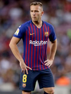 Arthur of FC Barcelona. During the La Liga Santander match between FC Barcelona v SD Huesca at the Camp Nou on September 2018 in Barcelona Spain (Photo by Jeroen Meuwsen/Soccrates/Getty Images) Camp Nou, Soccer Players, Football Soccer, Euro 96, Fc Barcelona Wallpapers, Football Pictures, Barcelona Spain, Messi, September 2