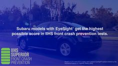 EyeSight® Driver Assist Technology watches for danger ahead to help avoid an accident. Eye Sight Test, 2014 Subaru Outback, Subaru Models, Woodworking Videos, Helpful Hints, Handy Tips, Anti Aging, Technology, Watches