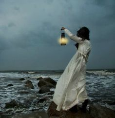 """""""The fishermen know that the sea is dangerous and the storm terrible, but they have never found these dangers sufficient reason for remaining ashore. Story Inspiration, Character Inspiration, Lighthouse Keeper, Sea Witch, Water Witch, Fantasy Photography, Vampires, Belle Photo, Oeuvre D'art"""