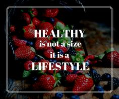 Being skinny doesn't make you healthy. Healthy is not a size, it is a LIFESTYLE :)