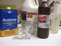 Stop using Ferric Chloride etchant! (A better etching solution.) Picture of Ingredients: The Starter Etchant